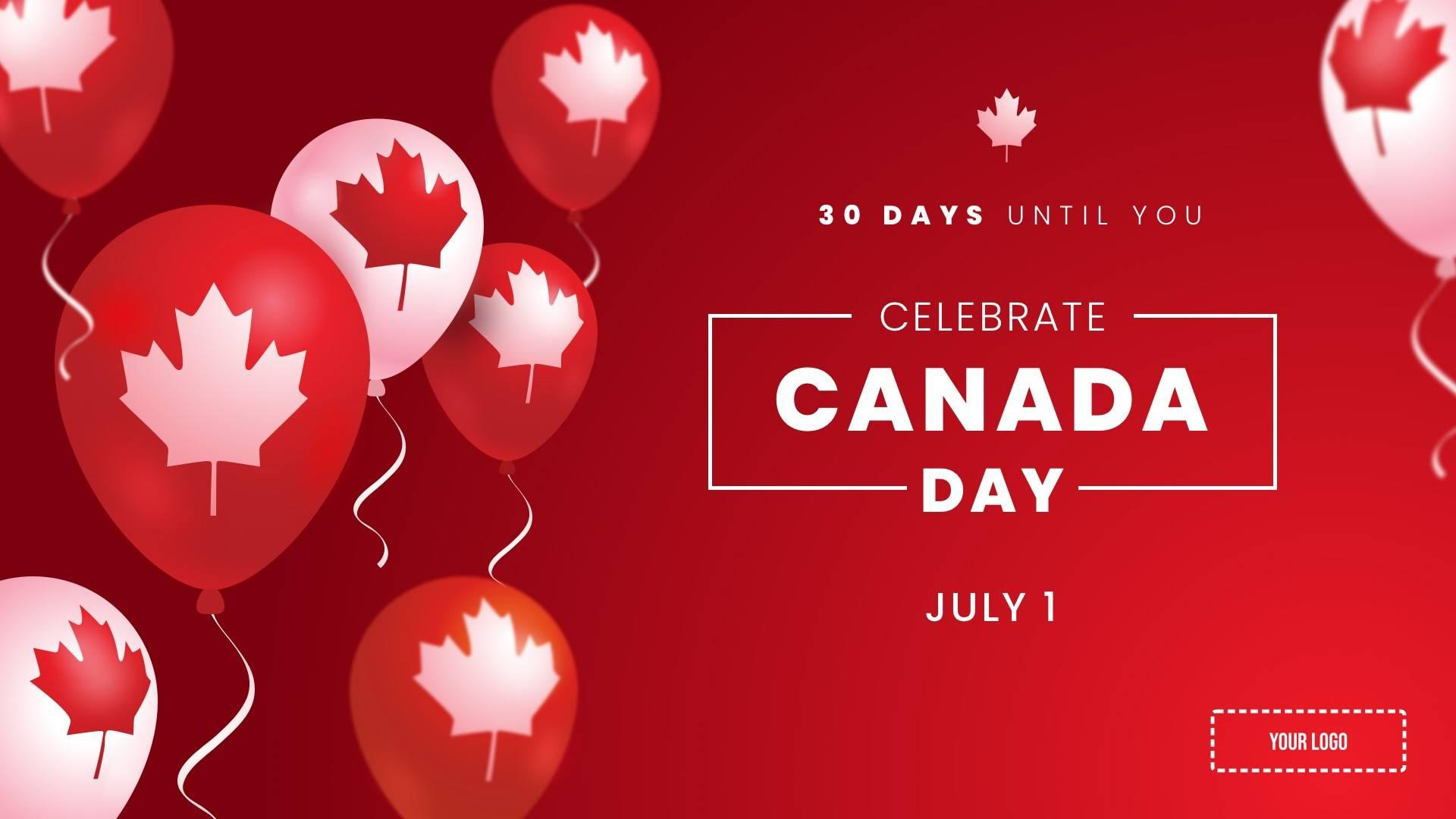 Canada Day - Countdown Digital Signage Template