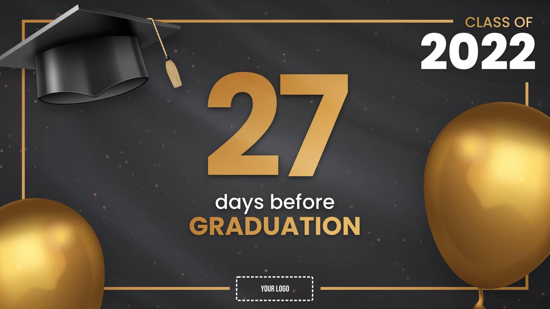 Graduation Countdown Digital Signage Template