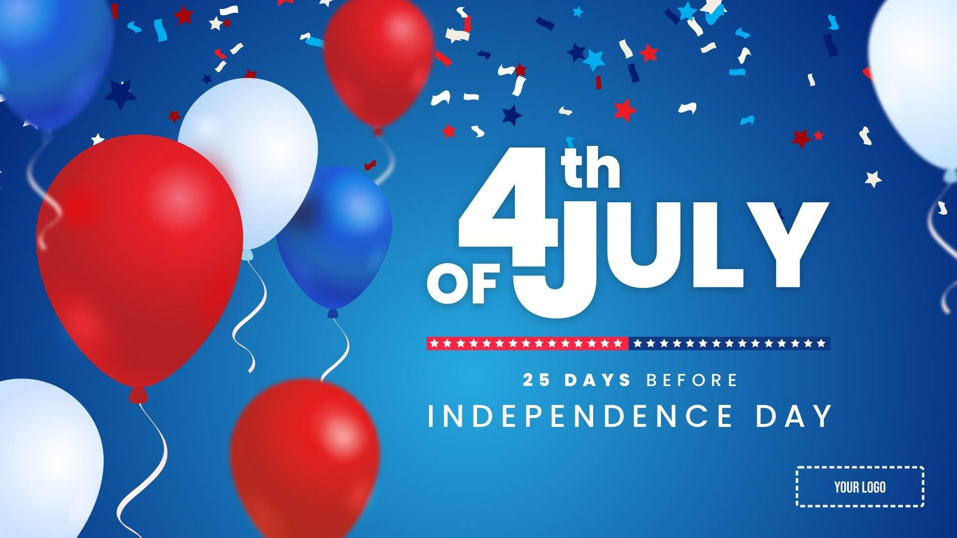 4th of July - Countdown Digital Signage Template
