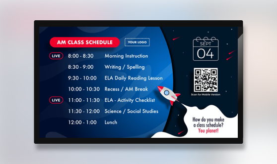 Class Schedule Distance Learning
