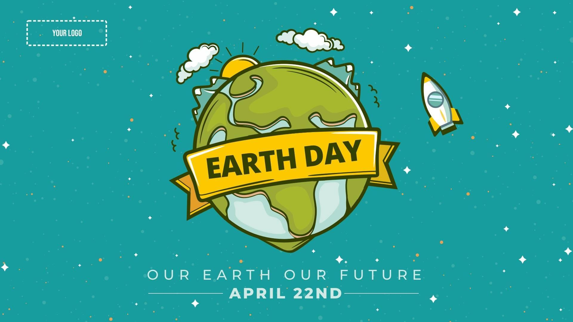 Earth Day Digital Signage Template