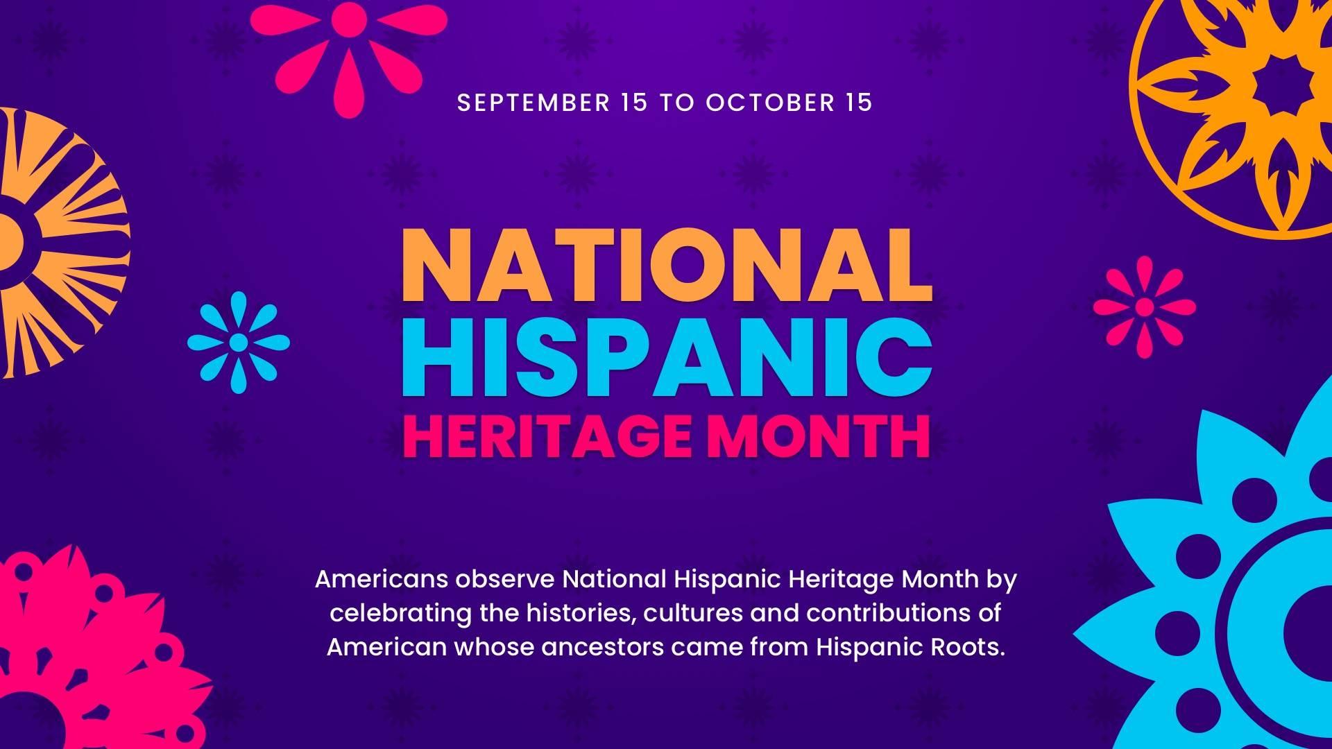 National Hispanic Heritage Month Digital Signage Template