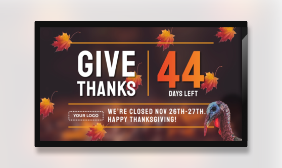Thanksgiving Give Thanks Countdown