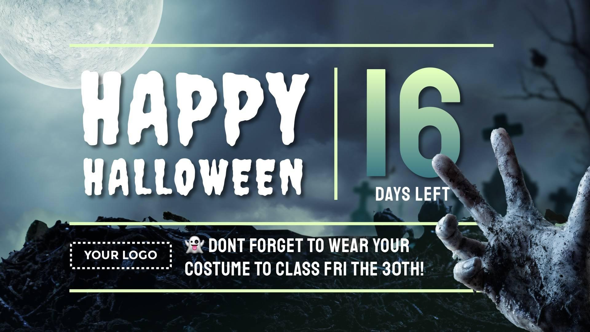Halloween Surprise Countdown (Contains Audio!) Digital Signage Template