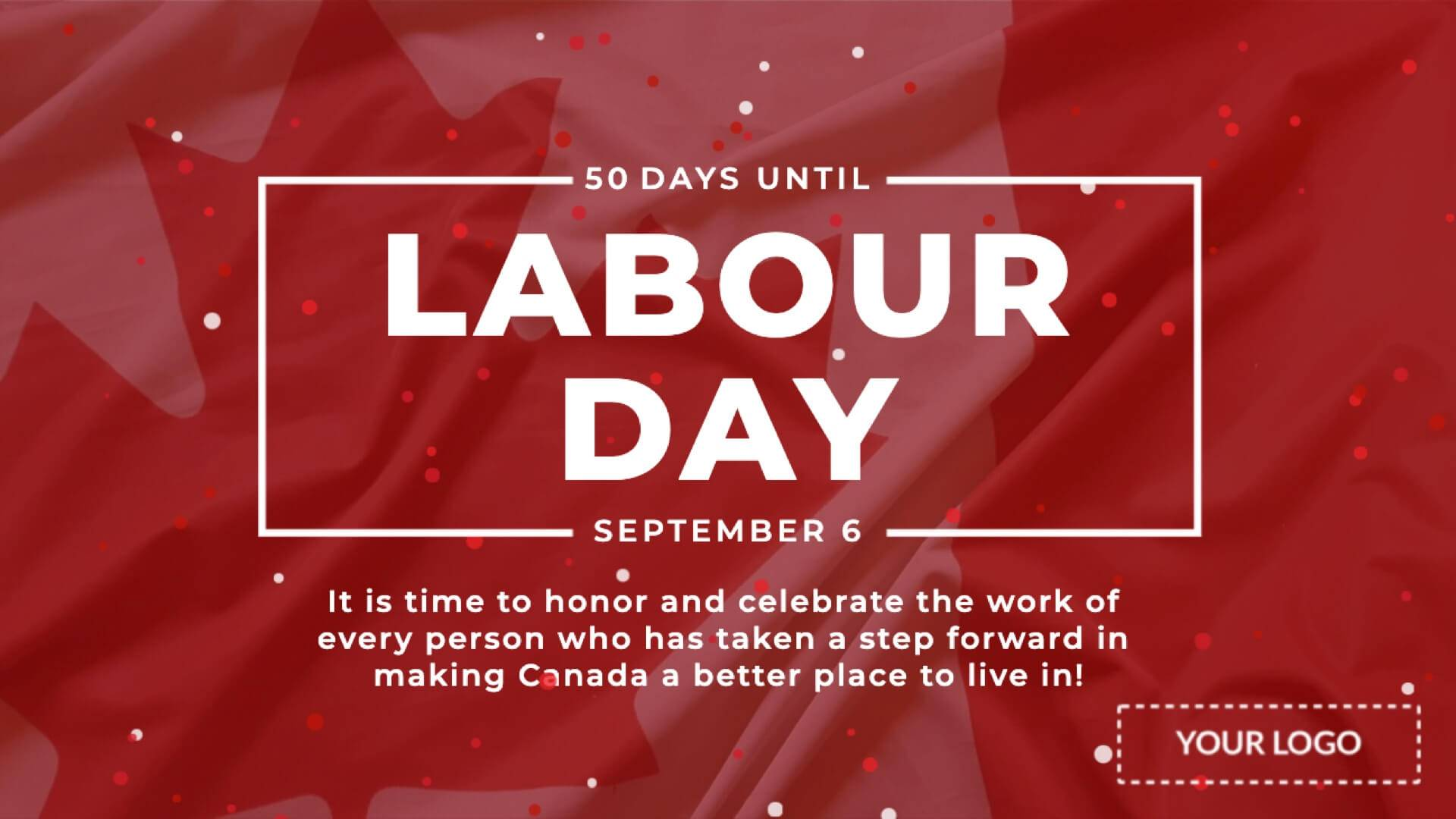 Canadian Labour Day Digital Signage Template