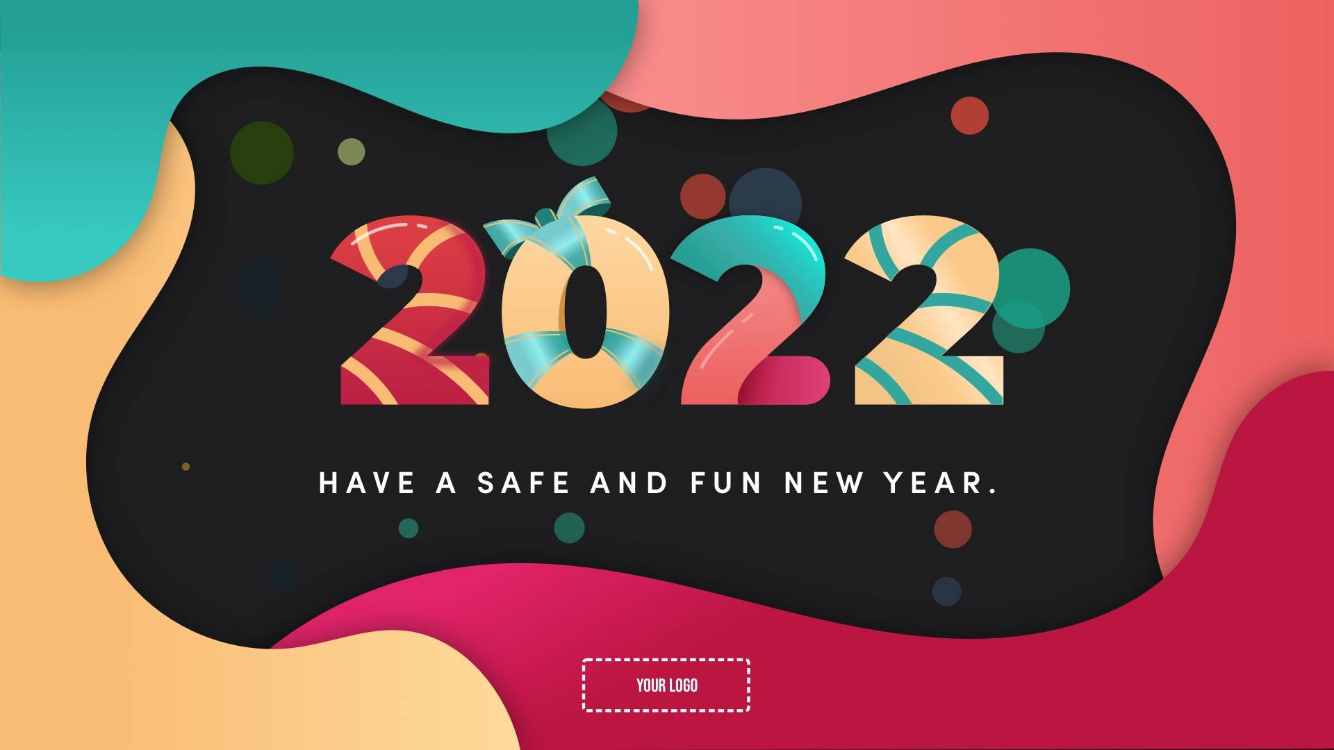New Year Wishes Digital Signage Template
