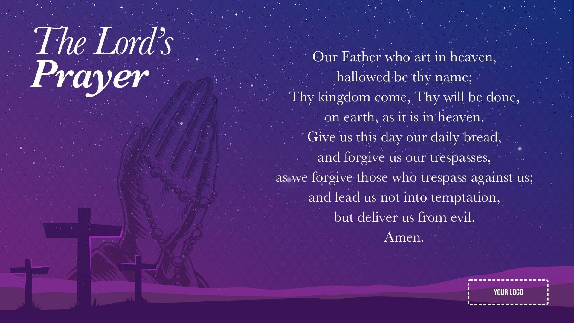 Main Prayers Digital Signage Template