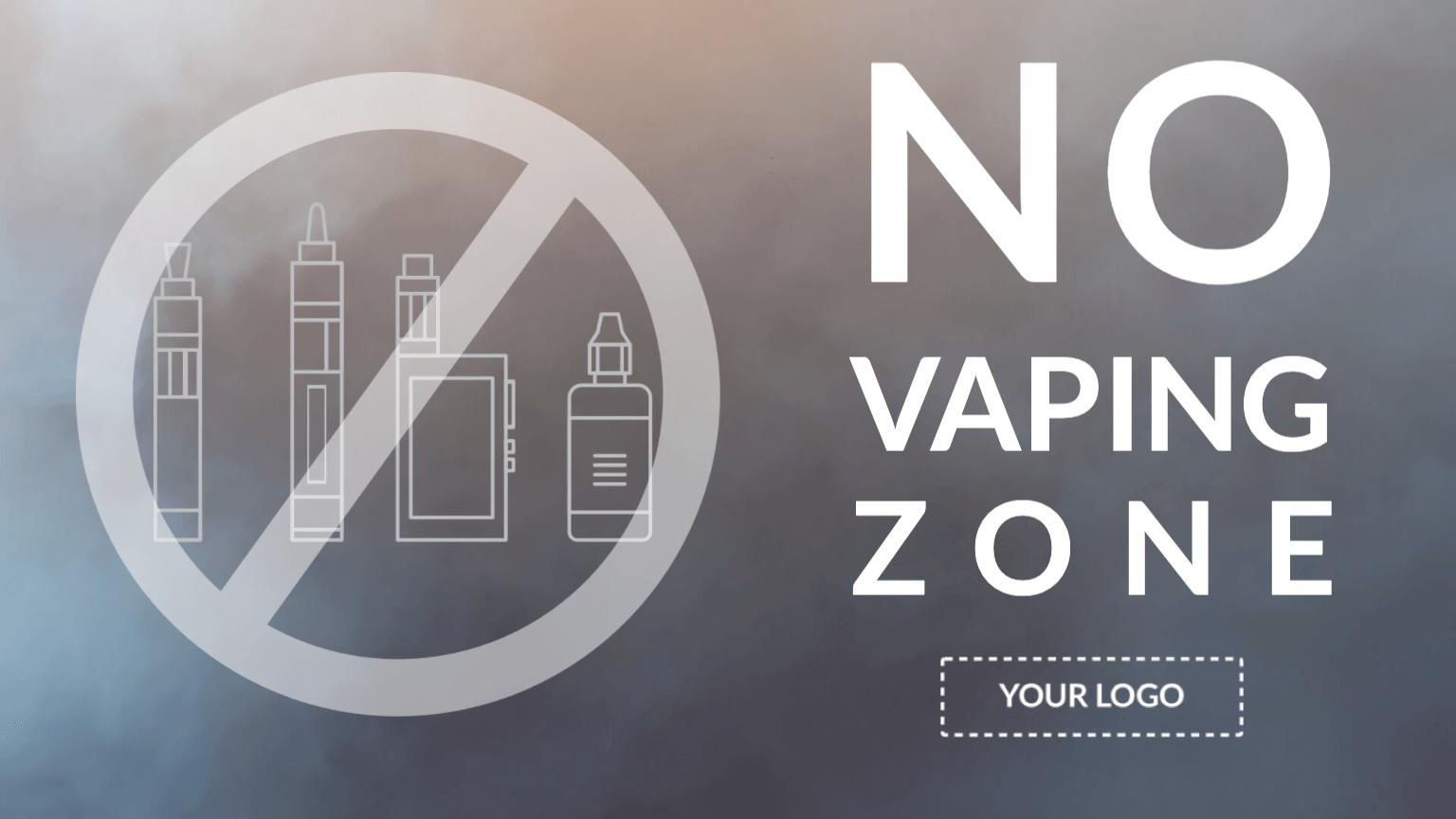 Campaign No Vaping Digital Signage Template