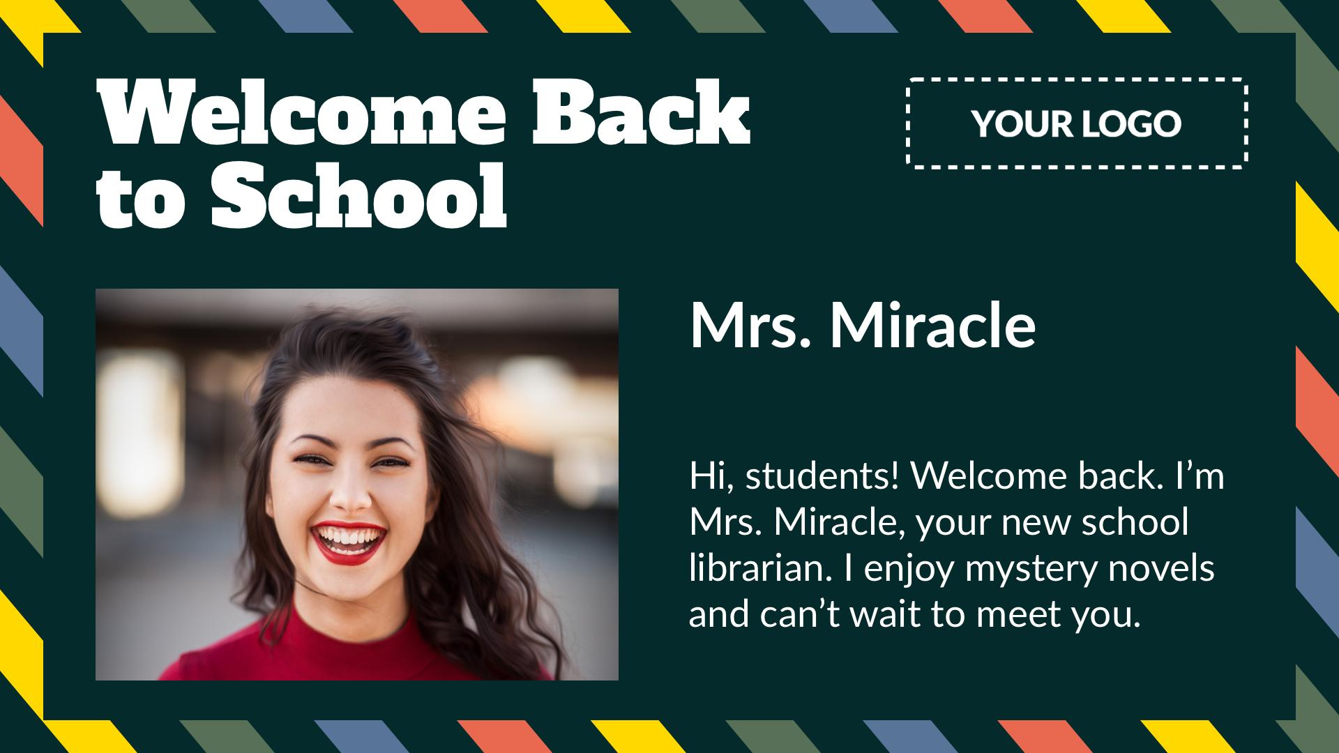 Welcome Back to School Digital Signage Template