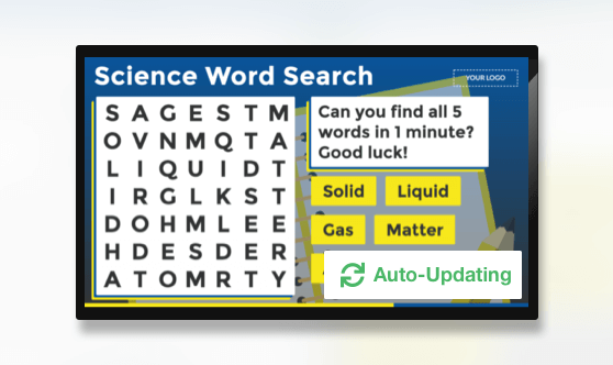 Auto Update Word Search