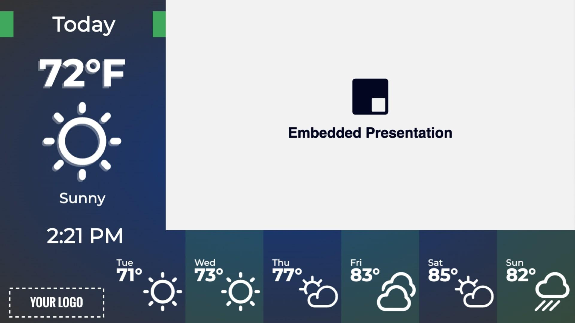 Zoned Embedded and Weather Digital Signage Template