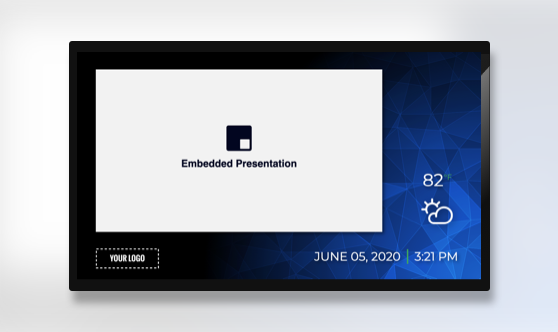 Zoned Minimal Embedded Presentation