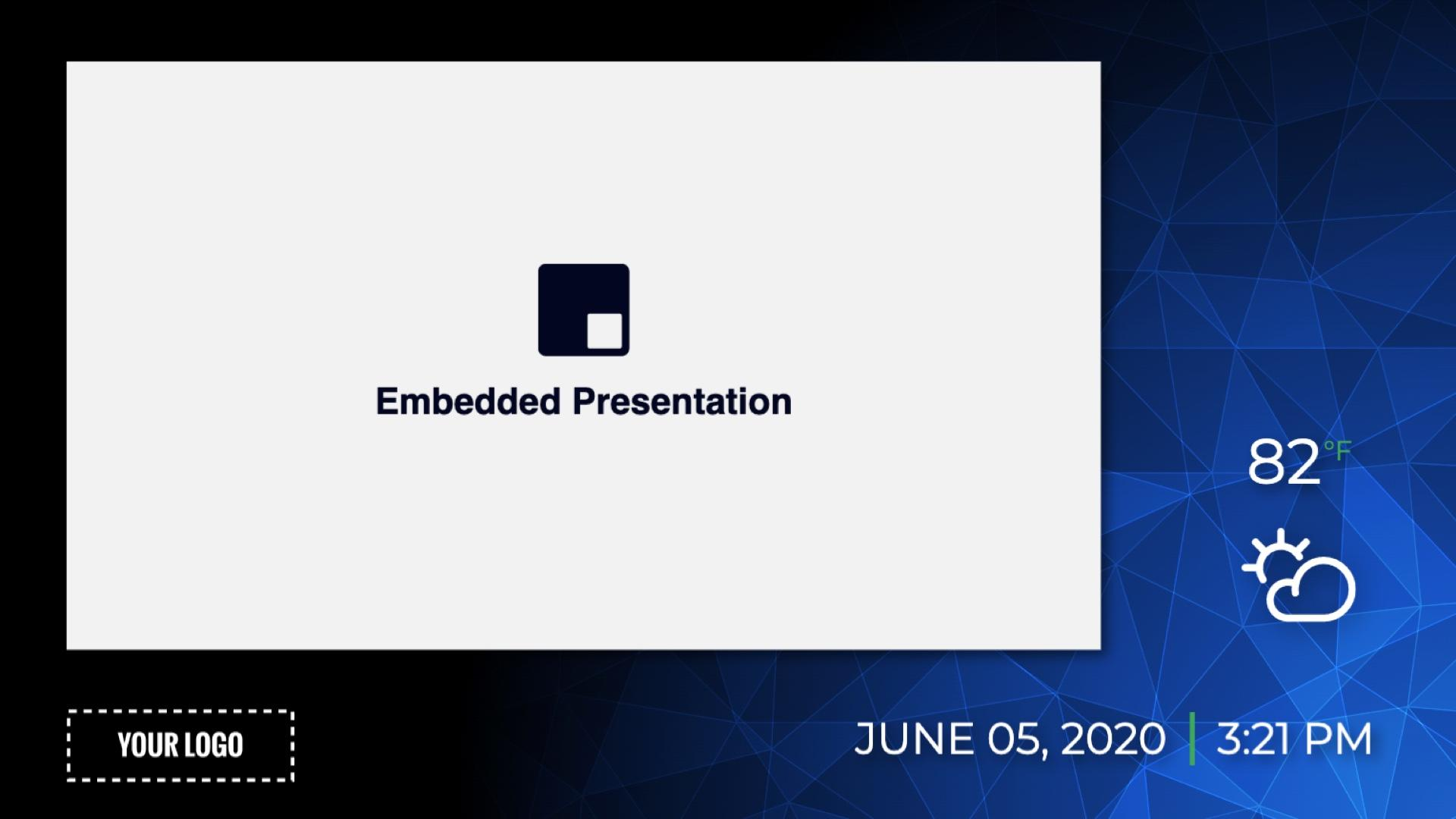 Zoned Minimal Embedded Presentation Digital Signage Template