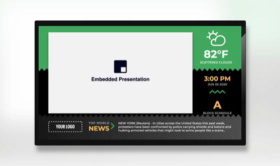 Zoned Sawtooth Embedded Presentation