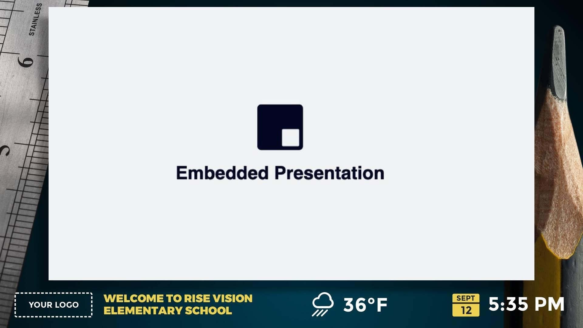 Zoned Embedded Centered Digital Signage Template