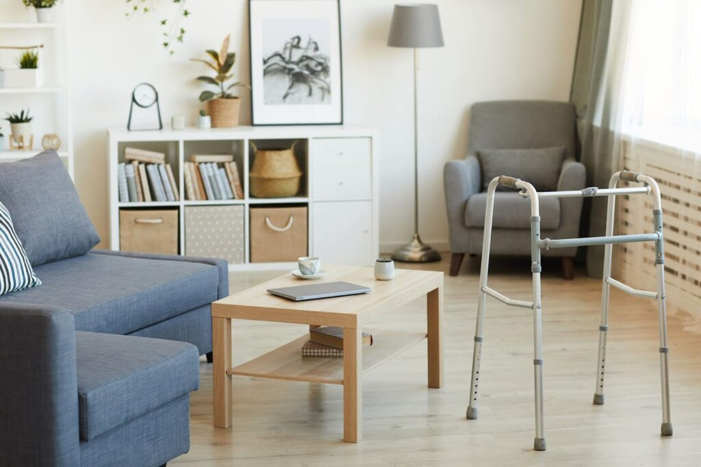 Spacious apartment with a walker for senior people | Rising Star Properties