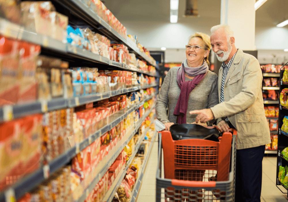 seniors doing grocery shopping | Rising Star Properties