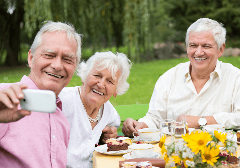 Outdoor Spaces for Seniors | Rising Star Properties