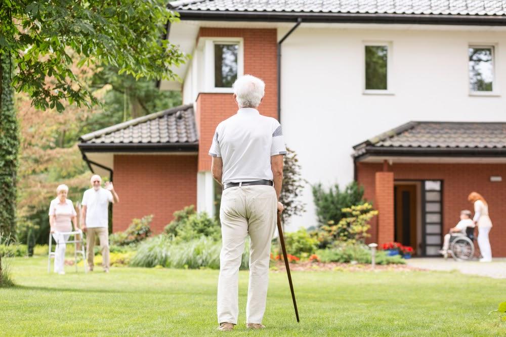 Seniors Enjoying The Outdoor Open Space | Rising Star Properties