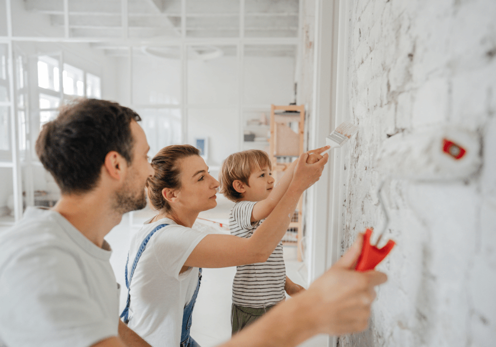 Family repainting their home interior spaces | Rising Star Florida