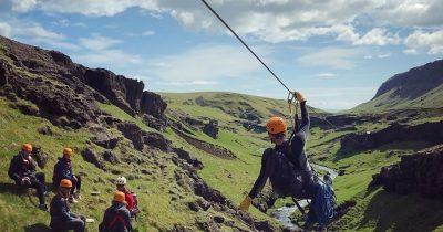 Zipline Iceland summer tour