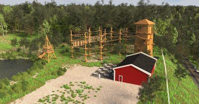 Klimpark Vimmerby schets