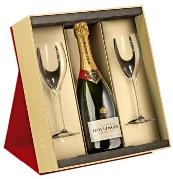 Bollinger Special Cuvee Red Gift Box 2 X Elizabeth Glasses