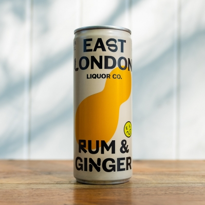 East London Rum and Ginger Cans 250ml 4.6%