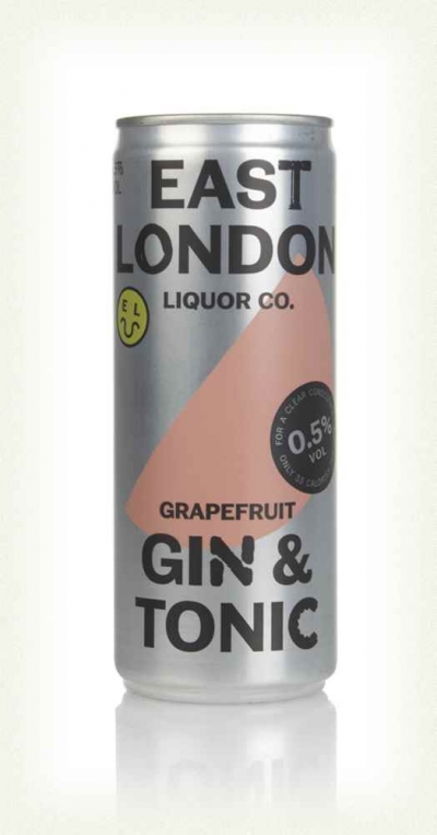 East London Grapefruit Gin & Tonic Can 250ml 0.5%