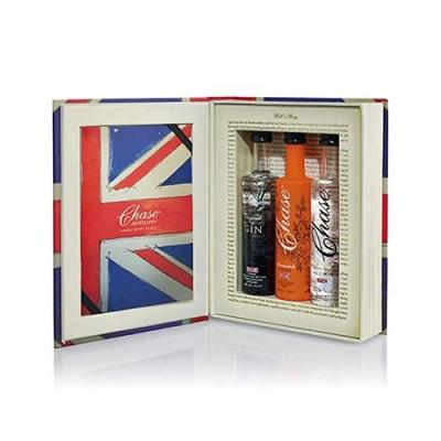 Chase Brand Union Jack Book Trio Gift Set - (3x50ml Chase Potato Vodka, William Elegant 48 Gin, Chase Marmalade Vodka)