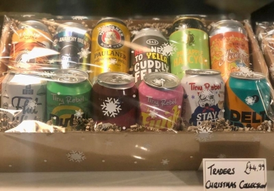 1. Traders Christmas Collection - Hand picked selection of our favourite beers - 12 Cans/Bottles (in free Christmas hamper tray)