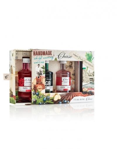 Chase Gins - Perfect Serve Gift Box (3x50ml, Original, Pink Grapefruit & Pomelo, Rhubarb & Bramley Apple Gin)