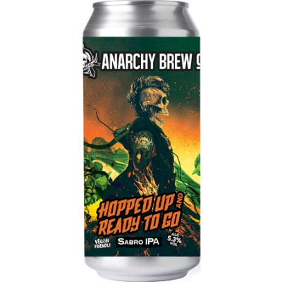 Anarchy Hopped Up And Ready To Go 6% IPA 440ml