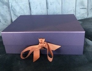 .Luxury Gift Box  - with ribbon and shredded paper