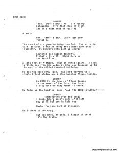 """Times Square"" screenplay p 3"