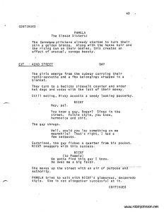 """Times Square"" Screenplay p. 49"