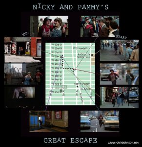 Map of Nicky and Pammy's escape route