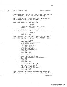 """Times Square"" Screenplay by Jacob Brackman, 1979, p. 77"