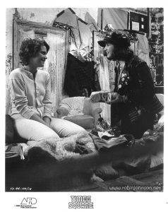 "Publicity still of Robin Johnson and Trini Alvarado in the ""hideout"" in Pier 56 from the ""Times Square"" US Press Materials folder.   Text:  TS-94-10A/13 TIMES SQUARE AFD ©1980 Associated Film Distribution"