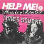 "The front of the picture sleeve for the single ""Help Me!"" by Marcy Levy & Robin Gibb, RSO 2090 481, as released in Italy in 1980. Text: HELP ME! BY Marcy Levy & Robin Gibb PRODUCED BY ROBIN GIBB AND BLUE WEAVER FROM THE ORIGINAL MOTION PICTURE SOUNDTRACK TIMES SQUARE A ROBERT STIGWOOD PRODUCTION [This digital surrogate created by Sean Rockoff for RobinJohnson.net.]"