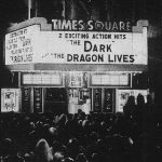 "The sixth image from the strip across the top of the picture sleeve for RSO promotional record TS1, six songs from the ""Times Square"" soundtrack album, showing the concert in Times Square. [This digital surrogate created by Sean Rockoff for robinjohnson.net.]"