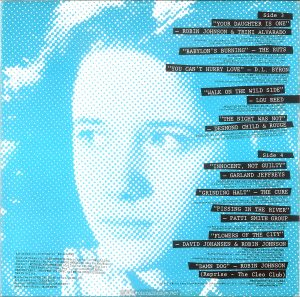 "The inner sleeve of the UK edition of the ""Times Square"" soundtrack album is almost identical to the US version except for the replacement of the RSO and several other sound recording copyrights. Text: Side 3 ""YOUR DAUGHTER IS ONE"" - ROBIN JOHNSON & TRINI ALVARADO PRODUCED BY BILL OAKES (by Billy Mernit, Norman Ross and Jacob Brackman; Stigwood Music, Inc. (Unichappell Music, Admin.) (BMI) Engineer: John Pace ℗ 1980 MULTIPLIER N.V.* ""BABYLON'S BURNING"" - THE RUTS PRODUCED AND ARRANGED BY MICK GLOSSOP (by John Jennings, Dave Ruffy, Malcolm Owen and Paul Fox; Nymph Music (Unichappell Music, Admin.) (BMI) (COURTESY OF VIRGIN RECORDS, LTD. ) ℗ 1979 VIRGIN RECORDS LTD. ltd . ""YOU CAN'T HURRY LOVE""- D.L. BYRON PRODUCED BY JIMMY IOVINE WITH JON SMALL (by E. Holland, L. Dozier, S. Holland; Stone Agate Music Division) (BMI) (COURTESY OF ARISTA RECORDS, INC.) ℗ 1980 ARISTA RECORDS, INC. ""WALK ON THE WILD SIDE"" - LOU REED PRODUCED BY DAVID BOWIE AND MICK RONSON (by Lou Reed; Oakfield Avenue Music, Ltd.) (BMI) (COURTESY OF RCA REC0RDS ) ℗ 1972 RCA RECORDS ""THE NIGHT WAS NOT"" - DESMOND CHILD & ROUGE PRODUCED BY RICHARD LANDIS AND D.C. ASSOCIATE PRODUCTIONS (by Desmond Child; Desmobile Music Co. (ASCAP) (COURTESY OF CAPITOL RECORDS, INC.) ℗ 1979 CAPITOL RECORDS, INC. Side 4 ""INNOCENT, NOT GUILTY"" - GARLAND JEFFREYS PRODUCED BY GARLAND JEFFREYS AND BILL OAKES (by Garland Jeffreys; Garland Jeffreys Music ) (ASCAP) Engineer: John Pace ℗ 1980 MULTIPLIER N.V.* ""GRINDING HALT"" - THE CURE PRODUCED BY CHRIS PARRY (by Tolhurst Dempsey Smith; APB Music Co., Ltd.) (COURTESY OF FICTION RECORDS/POLYDOR LTD. /JEM RECORDS) ℗ 1979 16 AGE RECORD CO. LTD. ""PISSING IN THE RIVER"" - PATTI SMITH GROUP PRODUCED BY JACK DOUGLAS (by Patti Smith and Ivan KraL; Linda's Music Corp.) (ASCAP) (COURTESY OF ARISTA RECORDS, INC.) ℗ 1976 ARISTA RECORDS, INC. ""FLOWERS OF THE CITY"" - DAVID JOHANSEN & ROBIN JOHNSON PRODUCED BY DAVID JOHANSEN (by David Johansen and Ronnie Guy) Buster Poindexter, Inc. and Purple Man Publishing (BMI) Engineer: Harvey Goldberg (COURTESY OF BLUE SKY RECORDS, INC. /CBS RECORDS) ℗ 1980 BLUE SKY RECORDS, INC. ""DAMN DOG"" - ROBIN JOHNSON (Reprise - The Cleo Club) PRODUCED BY BILL OAKES (by Billy Mernit and Jacob Brackman; Stigwood Music, Inc. (Unichappell Music, Admin.) (BMI) ℗ 1980 MULTIPLIER N.V.* Album Executive Producer : BILL OAKES Special Thanks to : GREG SHELDON (Music Editor), TOM GULLINO (Associate Music Editor), DARRELL HANZALIK (Assistant Music Editor), MICHAEL KIRCHBERGER (Collaborating Film Editor), the D.L. BYRON BAND (for ""Damn Dog""), and to SOUNDMIXERS, RECORD PLANT, THE POWER STATION, and MEDIA SOUND STUDIOS, New York City. Mastered at STERLING SOUND by George Marino Art Direction: GLENN ROSS Design: GEORGE CORSILLO /GRIBBITT Back Cover Photo: MICK ROCK"