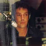 The fourth image from the inner gatefold of the Canadian edition of the TIMES SQUARE soundtrack album is a photograph of Tim Curry as Johnny LaGuardia. (This digital surrogate created by Sean Rockoff for robinjohnson.net)