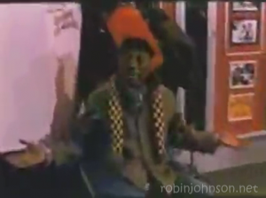 "A shot of ""Tiger"" Haynes as Andy from the TIMES SQUARE soundtrack promotional video that does not appear in the movie."