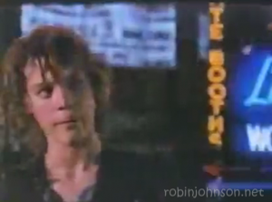 Close-up of Robin Johnson as Nicky, from a shot in the soundtrack promo video not in the movie.