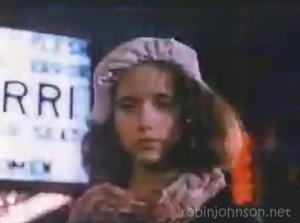 Close-up of Trini Alvarado as Pammy, from a shot in the soundtrack promo video not in the movie.