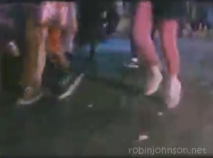 One of many close-ups of the girls' feet from the TIMES SQUARE soundtrack promotional video, none of which appear in the movie.