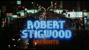 Robert Stigwood's production credit from TIMES SQUARE (1980)