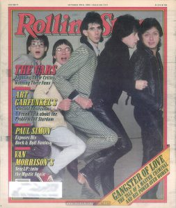 Cover of Rolling Stone No. 329, October 30, 1980, featuring The Cars