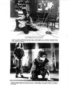 2 UK TIMES SQUARE B&W Press Photos on a single 8x10 print. The bottom photo is in the Press Kit, the top photo appears nowhere else as of this writing.  Captions:  A ROBERT STIGWARD PRESENTATION FOR EMI FILMS - TIMES SQUARE.  IN  A DISTRESSED CONDITION, NICKY (ROBIN JOHNSON) TRIES TO TELL HER STORY OVER THE AIR FROM THE RADIO STATION.  RELEASED IN THE UK BY COLUMBIA-EMI-WARNER.  A ROBERT STIGWARD PRESENTATION FOR EMI FILMS - TIMES SQUARE.  NICKY (ROBIN JOHNSON) AND PAMELA (TRINI ALVARADO) SURVEY THE CROWDS BELOW THEM IN TIMES SQUARE.  RELEASED IN THE UK BY COLUMBIA-EMI-WARNER.
